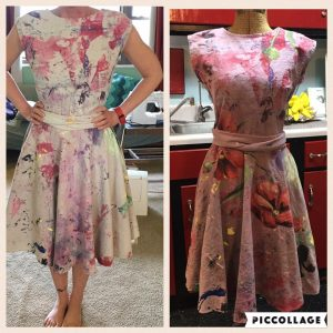 Tracy McElfresh Mural Machine Poppy Dress
