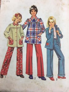 Simplicity 5226 Girls Smock and Pants 1970s Vintage Pattern