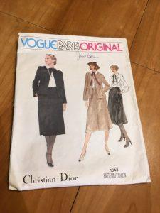 Christian Dior Vogue Paris Original 1980s Suit Pattern 1843