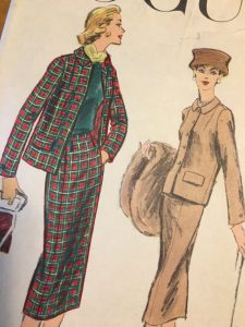 Rare Vogue 8973 1950s Chanel Style Suit