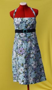 Jazzy Blue Note 1950s 1960s Inspired Dress