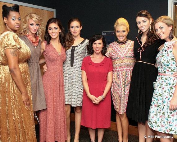 Raw Silk Nude Pink 1960s Inspired Dress